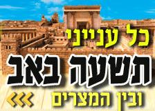 ריכוז כל ענייני ט' באב ובין המצרים