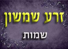 זרע שמשון | חומש שמות